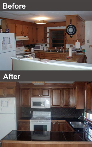 before and after ktichen remodeling projects